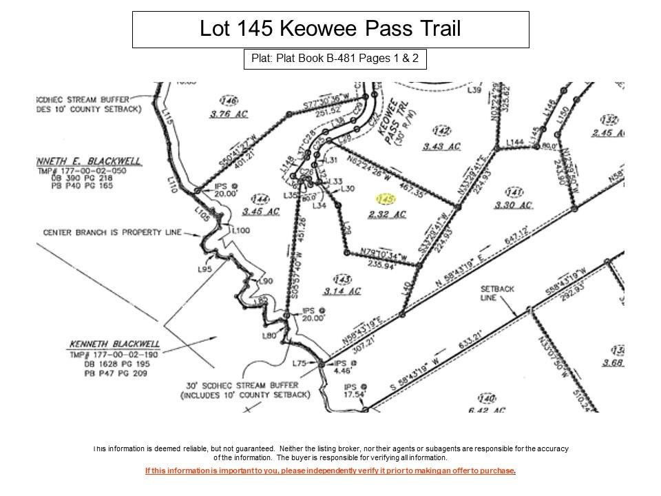 145 Keowee Pass Trail West Union, SC 29696