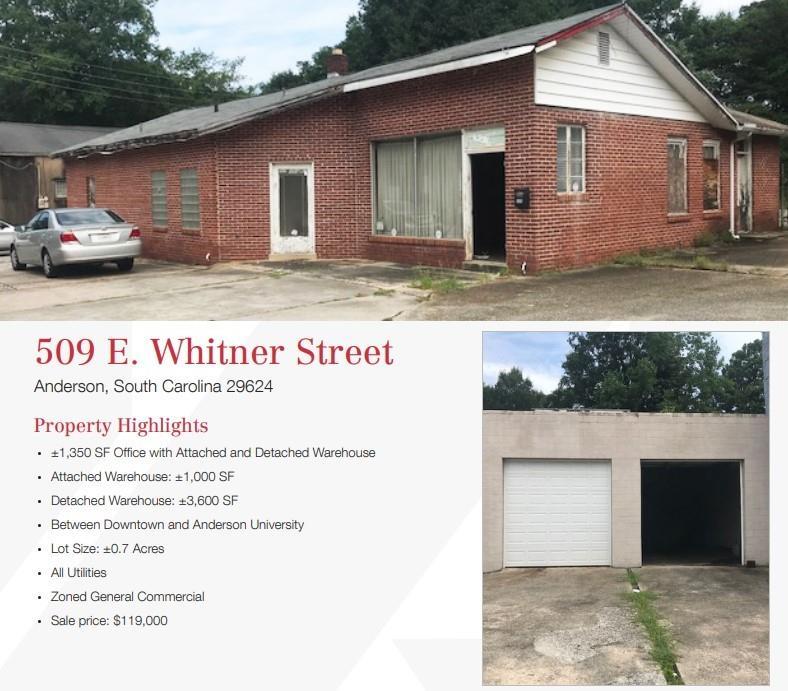 509 E. Whitner Street Anderson, SC 29624
