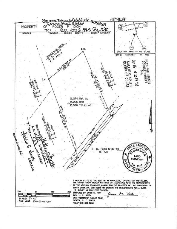 13000 S. Radio Station Rd./2.5 Acres Road UNIT Directly across the Seneca, SC 29678